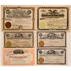 Rare Manhattan, Nevada Stock Group #5  (110332)