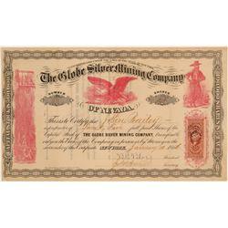 Globe Silver Mining Company of Nevada Stock Certificate  (106918)