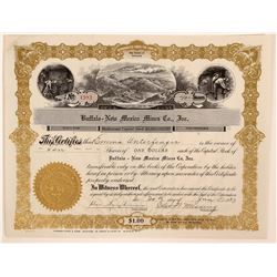 Taos, New Mexico Mining Stock Certificate, Red River  (111950)
