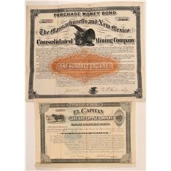 Two New Mexico Bonds - Land and Mining  (110941)