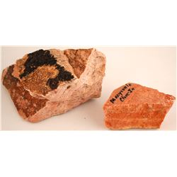 Close In Alunite Mine and Mineral Products Mine Specimens  (61118)