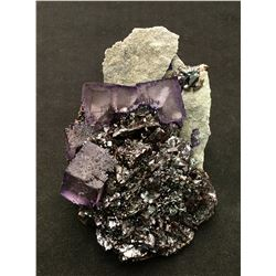 Fluorite and Sphalerite from Elmwood Mine, Tennessee  (53007)