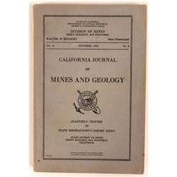 Rare 1938 Inyo County Mines Report With Great Map Showing Location of 434 Mines!  (111943)