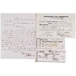 Four Scarce California Gold Rush Documents  (78115)