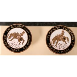 Fabulous Roundup Coal Mining Company Cuff Links  (118201)