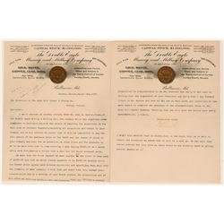 Double Eagle Mining & Milling Co. Letterheads w/ Gold Coin Vignette  (113269)