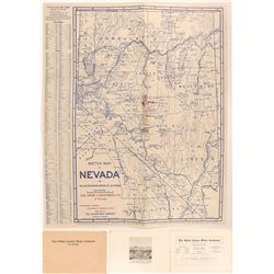 Ophir Canon Mines Company of Nevada Prospectus With Map, Nye County, 1906  (111939)