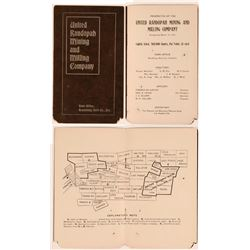 Rare 1901 Tonopah Prospectus With Claim Map  (111984)