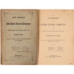 Comstock! Sutro Tunnel Co. Answer to Complaint Publication  (119605)