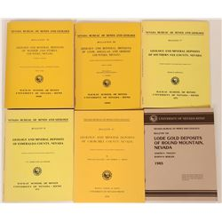 Nevada Bureau of Mines & Geology Bulletins (6)  (119582)