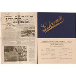 Golconda Prospectus and Special Ed. Newspaper   (119599)