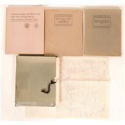 Utah Mining U.S. Geological Survey Professional Papers (3)  (119572)