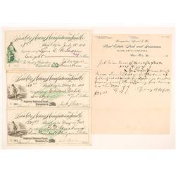 Basic City Mining & Land Co. Fancy Checks & LH (VA), 1890  (111935)