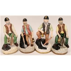 A Quartet of Miner Ceramic Statues  (118131)