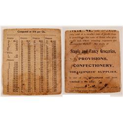 Gold Value Pocket Chart @ $16/Oz  (80105)