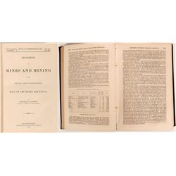 Raymond 1870 Mining Reference Work (West of the Rocky Mountains)  (118287)