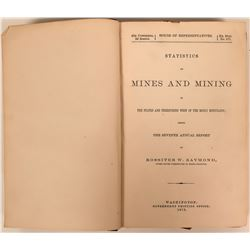 Statistics on Mines and Mining west of the Rocky Mountains by Raymond  (116418)