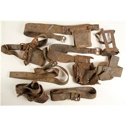 Leather Underground Mine Light Belts (7)  (87374)