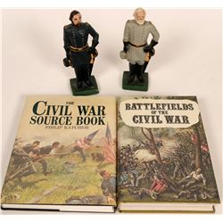 Civil War Books & Bookends Lot  (119571)