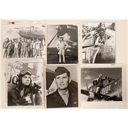 WWII Aviation Aces 8 X 10 Autographed Blk & Wht Photographs (7 Photos)  (109010)