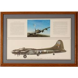 "B-17 F ""Just-A-Snappin"" bomber art signed print  (108552)"