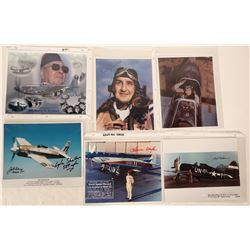Aviation History Autographed Color Photographs (6 Items)  (108281)