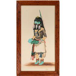 Hopi Dance Watercolor by Ernie Moore Jr.  (114351)