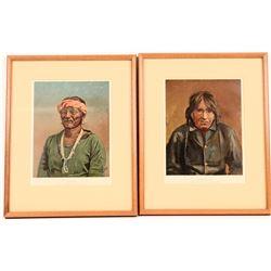 Native American Framed Chromolithographs c. 1984 (2)  (114365)