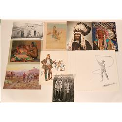 Native American Western Prints Artwork by Russell & Reiss   (117481)