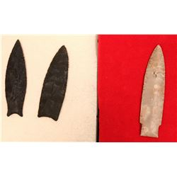 Three Pike County Illinois Points Arrowheads  (117351)