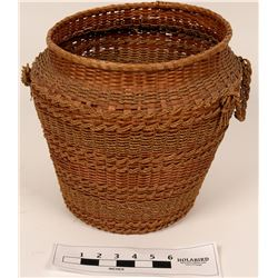 Reed & Cord Native American Style Basket  (119645)