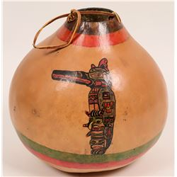 Hand Painted Gourd  (119643)