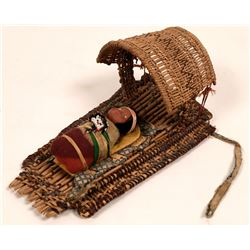 Vintage Skookum Papoose Doll and Cradleboard  (117057)