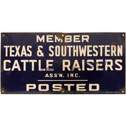 Texas Cattle Association Sign  (118285)