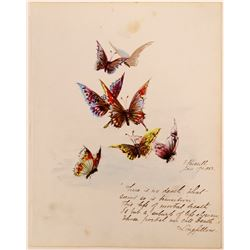 Butterflies Painting by V. Russell  (117456)