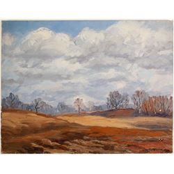 Bre Trees in Winter Grove - Oil on Canvas by La Verne Lane  (80808)