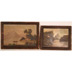 Antique Country Landscape Paintings  (117701)