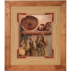 Four Framed Pottery Prints  (110580)
