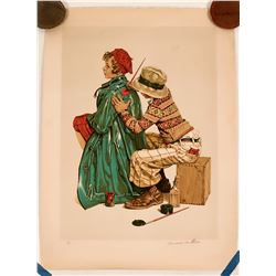 """""""She's My Baby"""" by Norman Rockwell, Signed  (117714)"""