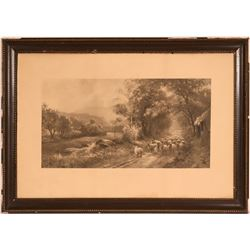 """""""A Spring Morning"""" Vintage Lithograph  (117693)"""