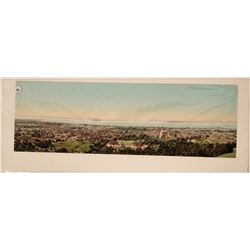 """Jackson Chromo Litho Panorama """"The Golden Gate from Berkeley Heights""""  (110374)"""
