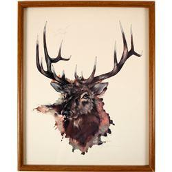 Large Buck Print by John Livingston  (79177)
