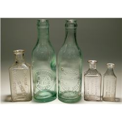 Small Lot of Beverage and Drug Bottles  (119638)