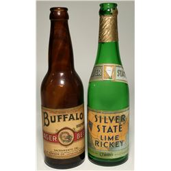 Buffalo Lager & Silver State Lime Rickey Bottles  (119658)