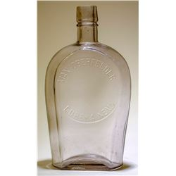 Whiskey Flask / Coffin /Max Oberfelder.  (89505)