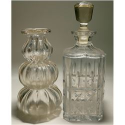 Two Clear Glass Decanters  (117951)