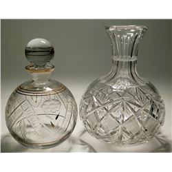 Two Leaded Crystal Decanters  (117948)