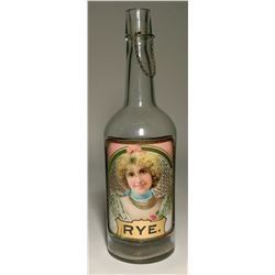 Under Glass Label Rye Bottle  (119656)