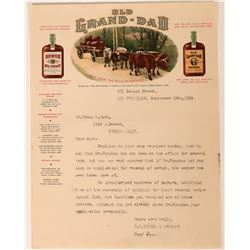 Old Grad-Dad Whiskey Illustrated Letterhead  (113239)