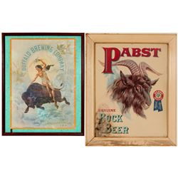 Vintage Beer Advertising: Pabst Bock Beer and Buffalo Brewing Company Framed Posters  (108259)
